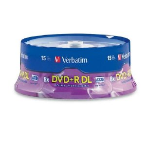 Double Layer DVD+R DL 8.5GB 8x 15pk Spindle